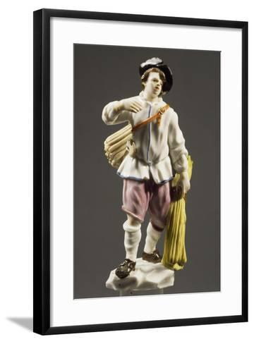 Peasant with Strip of Wood, 1760--Framed Art Print