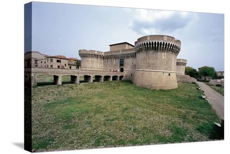 Italy, Marche Region, Senigallia, Rocca Roveresca Fortress--Stretched Canvas Print