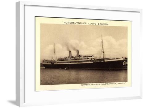 Norddeutscher Lloyd Bremen, Dampfer Bremen--Framed Art Print