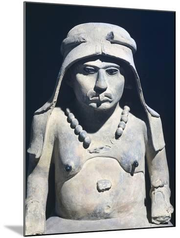 Terracotta Figure of an Elderly Woman, Artifact Originating from Mexico--Mounted Giclee Print