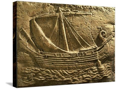 Relief Depicting Trade Ship--Stretched Canvas Print