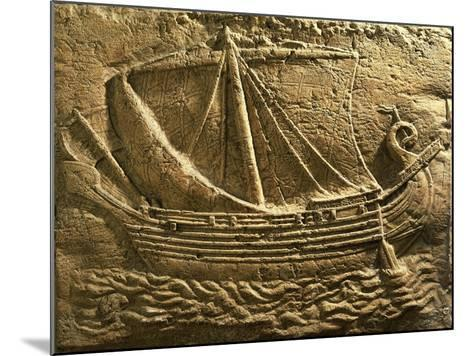 Relief Depicting Trade Ship--Mounted Giclee Print