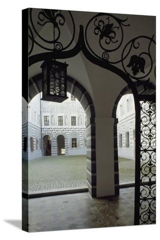 Inner Courtyard, Ambras Castle, Innsbruck. Austria, 16th Century--Stretched Canvas Print