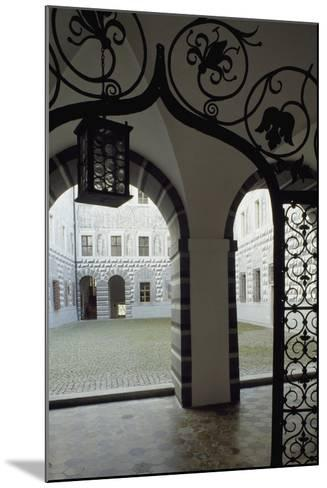 Inner Courtyard, Ambras Castle, Innsbruck. Austria, 16th Century--Mounted Giclee Print