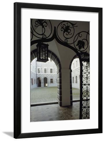 Inner Courtyard, Ambras Castle, Innsbruck. Austria, 16th Century--Framed Art Print