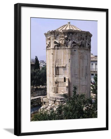 Greece, Athens, Roman Agora, the Winds Tower,2nd -1st Century BC, Ancient Greece--Framed Art Print