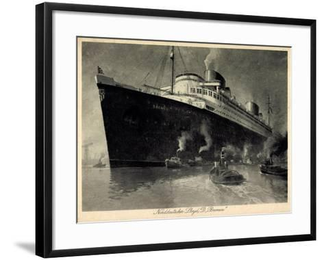 Künstler Norddeutscher Lloyd Bremen, Dampfer Bremen--Framed Art Print