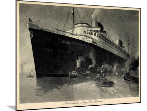 Künstler Norddeutscher Lloyd Bremen, Dampfer Bremen--Mounted Giclee Print