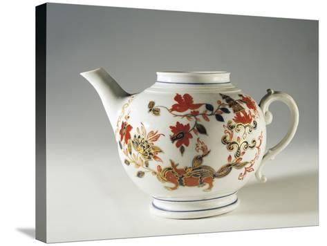 Chinoiserie Decorated Teapot, Ca 1760--Stretched Canvas Print