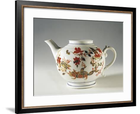 Chinoiserie Decorated Teapot, Ca 1760--Framed Art Print