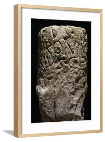 End Section of Column, from Mefite, Rocca San Felice, Campania, Italy BC--Framed Art Print