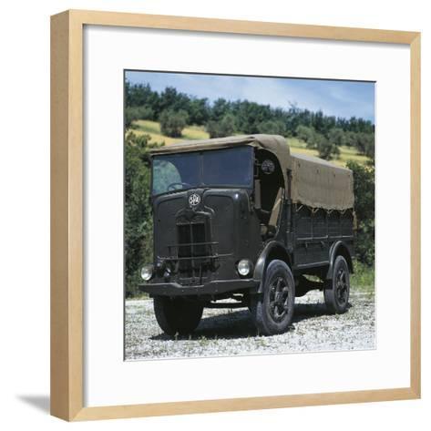 Italian Spa Autocarretta Vehicle, 1940--Framed Art Print