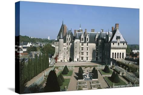 France, Indre-Et-Loire, Langeais Castle Exterior--Stretched Canvas Print