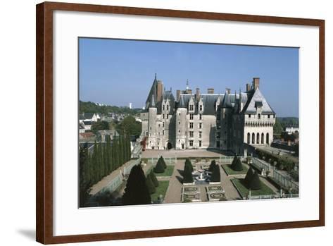 France, Indre-Et-Loire, Langeais Castle Exterior--Framed Art Print