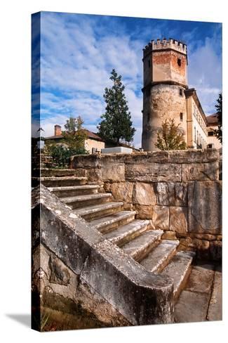 France, Rhône-Alpes, Isère, Saint-Bonnet-De-Chavagne, Castle of Arthaudière--Stretched Canvas Print