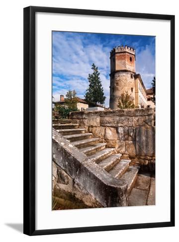 France, Rhône-Alpes, Isère, Saint-Bonnet-De-Chavagne, Castle of Arthaudière--Framed Art Print