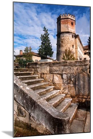 France, Rhône-Alpes, Isère, Saint-Bonnet-De-Chavagne, Castle of Arthaudière--Mounted Giclee Print