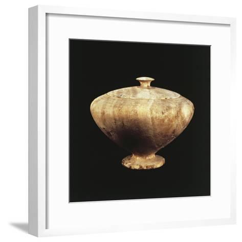 Amorite Origin Alabaster Jar with Lid, Artifacts from Ebla, Syria--Framed Art Print