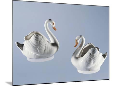 Swan-Shaped Twin Gravy Boats, Majolica--Mounted Giclee Print