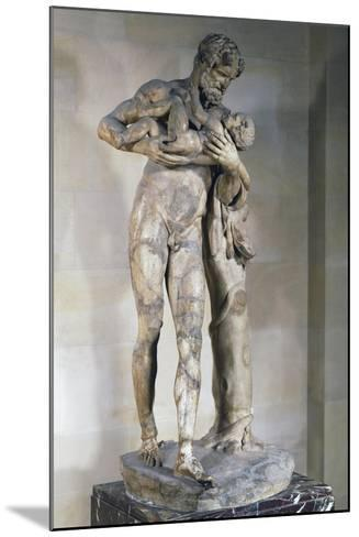 Statue of Silenus with Dionysus in His Arms--Mounted Giclee Print