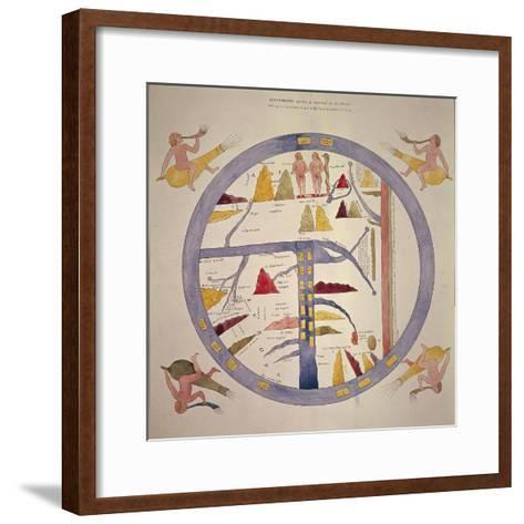 Map Reproduced in Manuscript of 12th Century--Framed Art Print