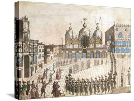 Municipalists Public Ceremony, Piazza San Marco, Venice, French Revolution, Italy, 1797--Stretched Canvas Print