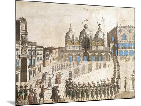 Municipalists Public Ceremony, Piazza San Marco, Venice, French Revolution, Italy, 1797--Mounted Giclee Print