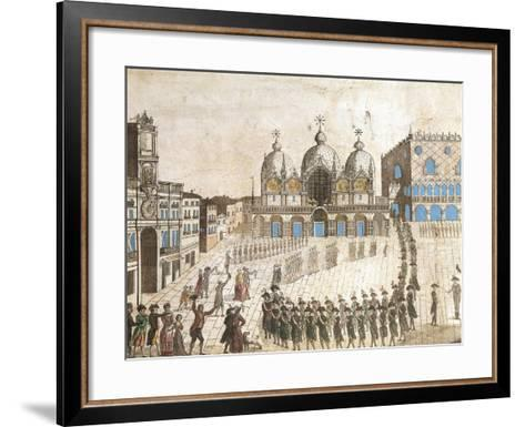 Municipalists Public Ceremony, Piazza San Marco, Venice, French Revolution, Italy, 1797--Framed Art Print