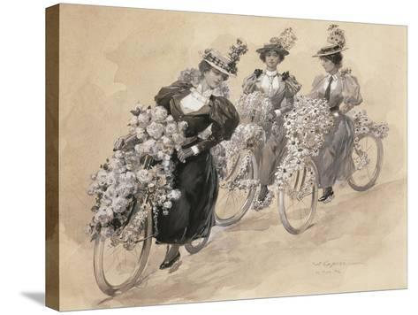 Austria, Vienna Painting of the Bicycle Ride--Stretched Canvas Print