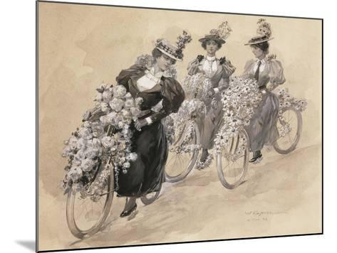 Austria, Vienna Painting of the Bicycle Ride--Mounted Giclee Print