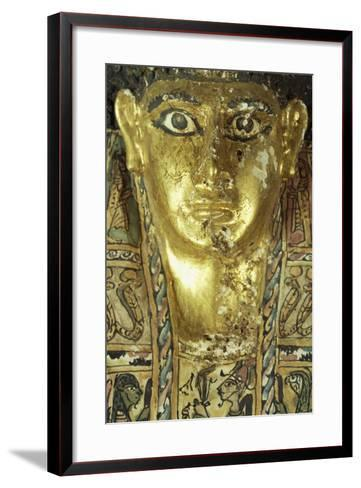 Mummy Uncovered in Tomb No 54, Valley of Golden Mummies, Bahariya Oasis, Giza, Egypt--Framed Art Print
