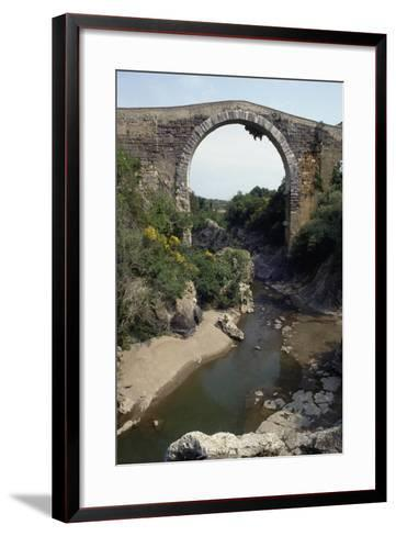 Bridge of Badia on River Fiora, of Etruscan Origin and Remodeled in Roman and Medieval Times--Framed Art Print