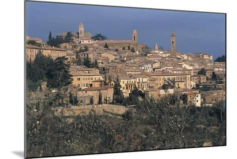 Italy, Tuscany Region, Val D'Orcia, Town of Montalcino on Hill--Mounted Giclee Print