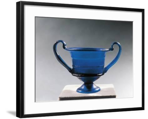 Blue Glass Bowl--Framed Art Print