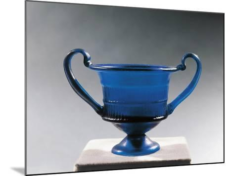 Blue Glass Bowl--Mounted Giclee Print