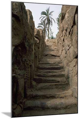 Egypt, Area around Aswan, Elephantine Island, Nilometer--Mounted Giclee Print