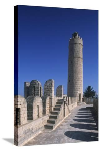 Tunisia, Ancient Sousse, Medina, Fortified Religious Building Ribat--Stretched Canvas Print