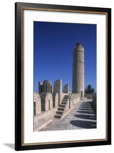 Tunisia, Ancient Sousse, Medina, Fortified Religious Building Ribat--Framed Art Print