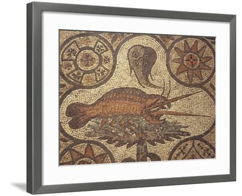 Close-Up of a Lobster Design in Mosaic, Aquileia, Friuli-Venezia Giulia, Italy--Framed Art Print