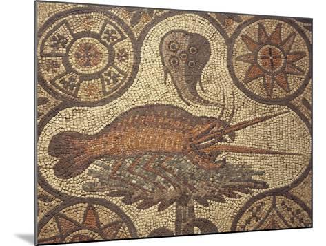 Close-Up of a Lobster Design in Mosaic, Aquileia, Friuli-Venezia Giulia, Italy--Mounted Giclee Print