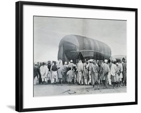 Departure from Tripoli Dragon Ball for Reconnaissance Flight, Table Comes from Italian Illustration--Framed Art Print