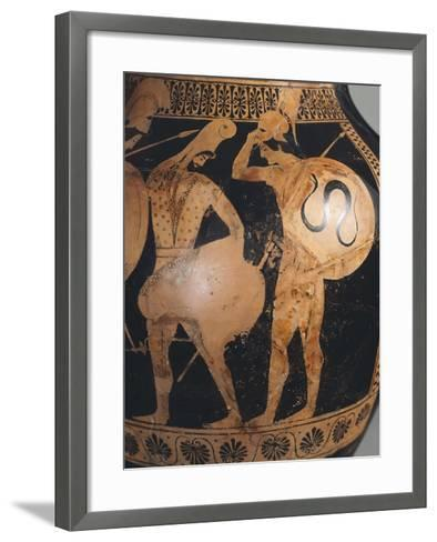 Attic Amphora, Attributed to the Painter of the Dikaios--Framed Art Print