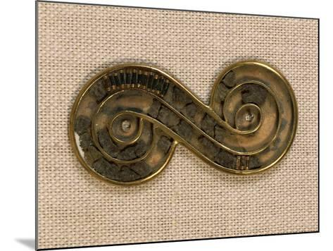 Pakistan, Harappa, Silver Brooch Edged in Gold and Ornated with Steatite Beads--Mounted Giclee Print