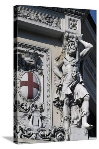 Coat of Arms of Genoa, Decorative Detail from Entrance to Genova Piazza Principe Railway Station--Stretched Canvas Print