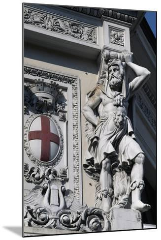 Coat of Arms of Genoa, Decorative Detail from Entrance to Genova Piazza Principe Railway Station--Mounted Giclee Print