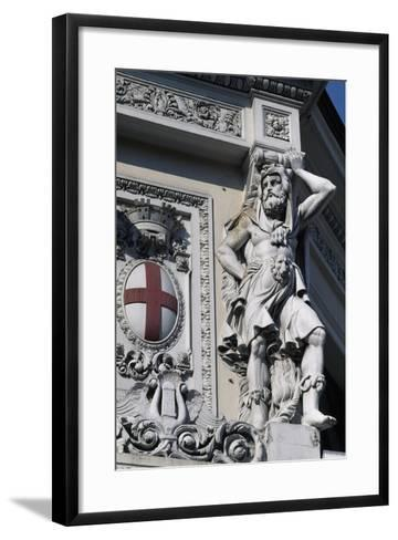 Coat of Arms of Genoa, Decorative Detail from Entrance to Genova Piazza Principe Railway Station--Framed Art Print