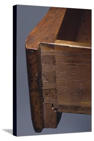 Louis XV Style Walnut Genoese Diplomat Writing Desk, Italy, Detail of Drawer--Stretched Canvas Print
