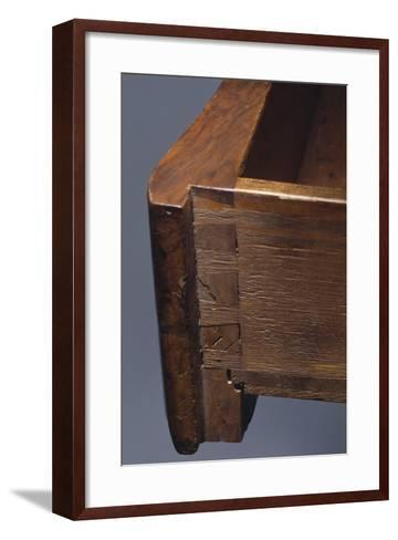 Louis XV Style Walnut Genoese Diplomat Writing Desk, Italy, Detail of Drawer--Framed Art Print