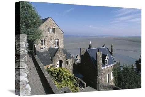 France, Normandy, Mont Saint-Michel, Ramparts--Stretched Canvas Print