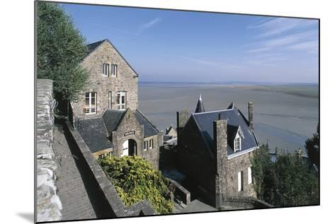 France, Normandy, Mont Saint-Michel, Ramparts--Mounted Giclee Print